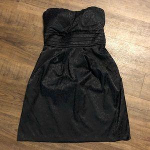 🖤 SALE! Black Leopard Print Strapless Dress